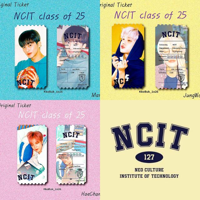 NCIT 정우 마크 해찬 오리지널 티켓
