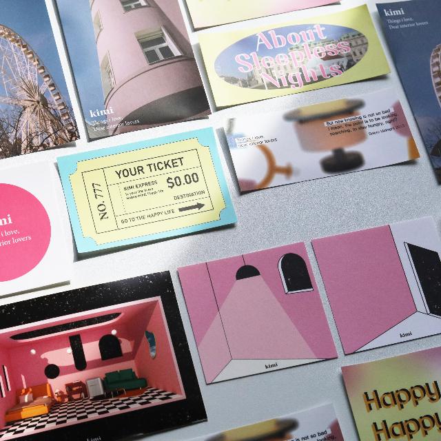 [스튜디오 키미] Lonely night sticker pack / weekly planner / memo pad